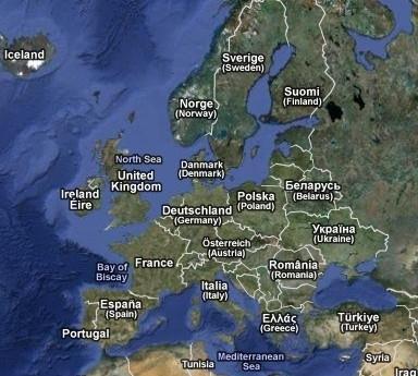 Mapa Satelitarna Europy