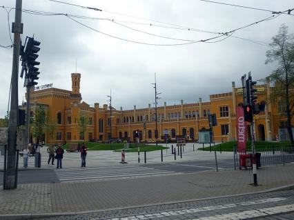 WROCŁAW - stolica Dolnego Śląska (cykl artykułów): Wrocław.Neogotycki Dworzec Główny